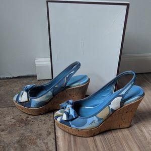 Shoes - Coach cork wedge sz 7.5